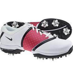 Nike Womens Air Embellish Golf Shoes (White/Black)