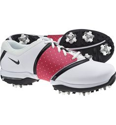 Nike Womens Air Embellish Golf Shoes (White/Black)