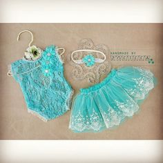 Baby romper,headband and tulle skirt / photoprops
