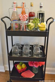 Beverage cart.  Kinda cute for the kitchen!