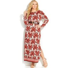 MICHAEL Michael Kors Belted Paisley Plus Size Maxi Dress