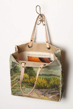 Original Still Life Bag Forsythias Anthropologie To Make Hand Painted Bags