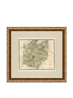 Antique Map of Ohio, 1842 at MYHABIT