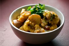 This is an adapted Indian recipe. It's delicious alongside some sautéed greens, or with another curry dish, like Masoor Dal.