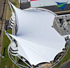 Twitter Fabric Structure, Shade Structure, Steel Structure, Membrane Structure, Tensile Structures, Tent Design, Parametric Design, Tarpaulin, Canopies