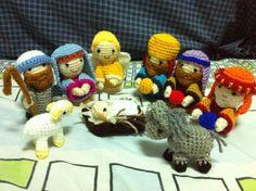 Amigurumi Nativity Español : Crocheted christmas creche figures for crochet nativity set i