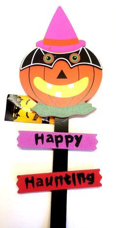 premier halloween garden stake pumpkin - Halloween Garden Stakes