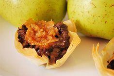 aperitivo de morcilla y manzana