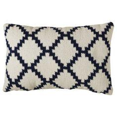 Threshold™ Nautical Woven Diamond Patterned Pillow - Blue/White