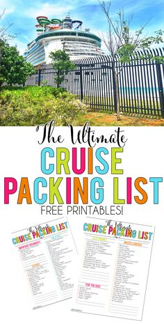 Grab a free printable cruise packing list, complete with tips for packing for a Carnival/Royal Caribbean cruise, things to pack for kids, Dollar Store hacks, and more! Source by awinfrey essentials packing lists Cruise Checklist, Packing List For Vacation, Packing For A Cruise, Cruise Travel, Cruise Vacation, Travel Packing, Travel Hacks, Vacation Travel, Italy Vacation