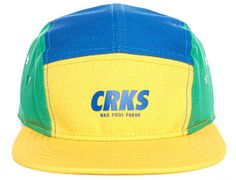 Yellow Cobalt Icon 5 Panel Cap by CROOKS & CASTLE Five Panel Hat, 5 Panel Cap, Urban Fashion, Men's Fashion, Icon 5, Crooks And Castles, Tropical Style, Cycling Jerseys, Urban Style