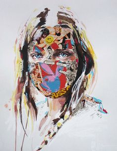 Patternbank are loving the bold illustrations of Montreal based artist Sandra Chevrier. Her portraits are brought to life by combining familiar iconic comi Art And Illustration, Illustrations, Sandro, Sandra Chevrier, Pop Art Design, Political Art, Political Issues, Collage, Gcse Art