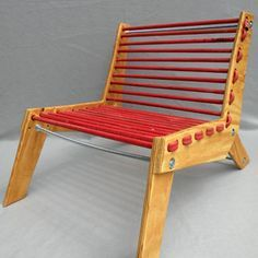 recycled climbing rope chair
