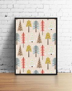 Winter Print Christmas Decor Kids Room Christmas by LovelyPosters Gold Nursery, Nursery Prints, Typographic Poster, Typography Art, Christmas Poster, Christmas Print, Poster Decorations, Insect Art, Minimalist Poster