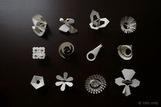 A year of rings - a new one each month! They're paper and you fold them up to wear. Fun.