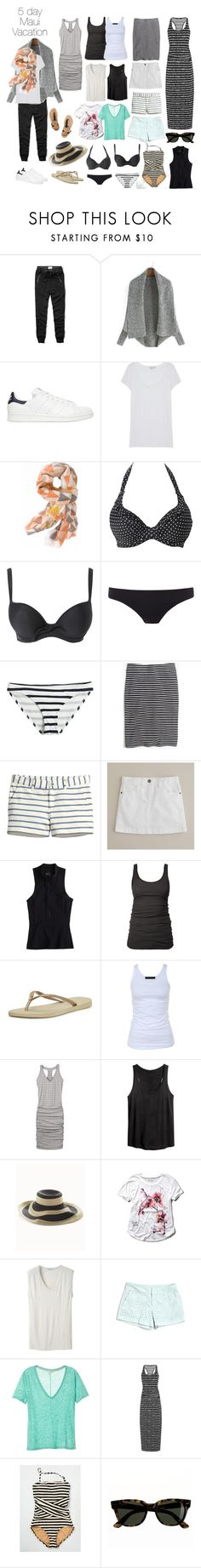 """""""Quick Maui Beach Vacation packing list"""" by wrymommy ❤ liked on Polyvore featuring Abercrombie & Fitch, adidas Originals, Vince, Pistil, Freya, Paul Smith, Calypso Private Label, Madewell, H&M and J.Crew"""