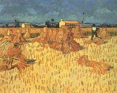 Harvest in Provence, 1888, Vincent van Gogh Medium: oil on canvas