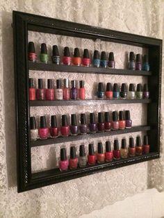 Nail Polish Shelf decorative frame by RustyElegance on Etsy