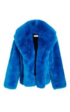 Faux Fur Jacket by DIANE VON FURSTENBERG for Preorder on Moda Operandi