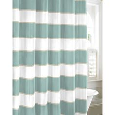 Nautica Guardhouse Stripe Mist Shower Curtain - Overstock™ Shopping - Great Deals on Nautica Shower Curtains