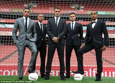 Young gunners: Arsenals Alex Oxlade-Chamberlain, Kieran Gibbs, Aaron Ramsey, Carl Jenkinson and Theo Walcott (left to right)