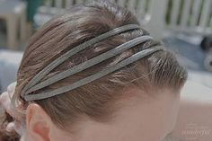 The perfect use for that pair of tights that don't fit quite right... Pantie hose head bands!