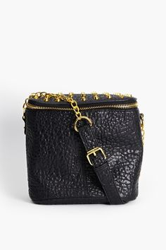 Conquest Studded Bag in Black