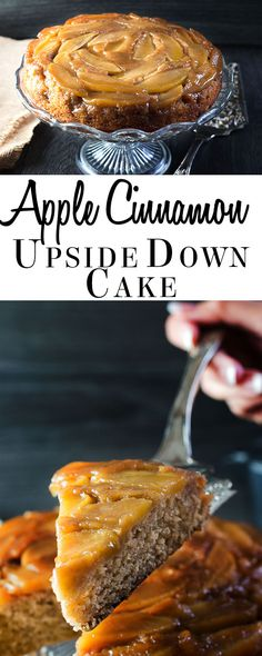 This recipe from Errens Kitchen for Apple Cinnamon Upside Down Cake make a great holiday centerpiece. Its a A moist, fruity cake thats perfect for dessert or an indulgent treat. Apple Recipes, Fall Recipes, Baking Recipes, Sweet Recipes, Holiday Recipes, Christmas Recipes, Bread Recipes, Cocktail Desserts, Köstliche Desserts
