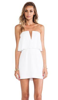 BCBGMAXAZRIA Kate Strapless Mini Dress in White