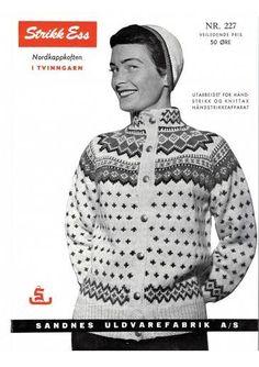 Bilderesultat for norske strikkemønstre Norwegian Knitting, String Bag, Fair Isle Knitting, Knit Picks, Knit Jacket, Vintage Knitting, Knitted Bags, Lana, Knitting Patterns