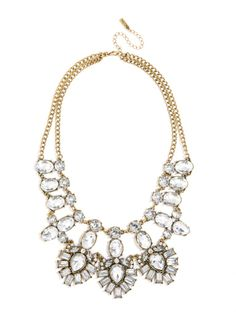 crystal feather bib necklace by BaubleBar | #deartopshop