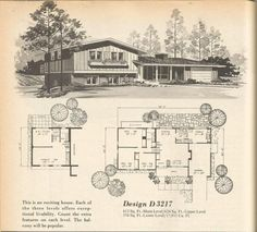 Ranch House Plans Inspirational Vintage House Plans Mid Century Homes - Modern Vintage House Plans, Modern House Plans, Vintage Homes, House Layout Plans, House Layouts, Ranch House Plans, House Floor Plans, Modern Ranch, Mid-century Modern