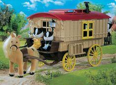 caravan and pony
