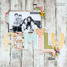 Layout from creative team member Nathalie DeSousa using Vintage Blessings #ScrapbookFAQs