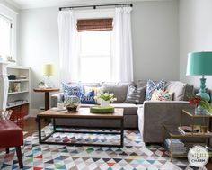 Michael Wurm's colorful, modern, comfortable living room | Inspired by Charm