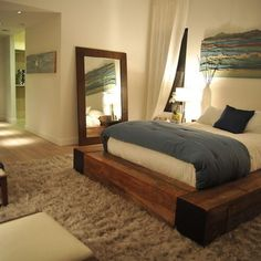 Platform Bed Design, Pictures, Remodel, Decor and Ideas