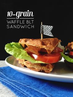 These 10-Grain Waffle BLT Sandwiches are a fun choice for breakfast for dinner. | @feastandwest