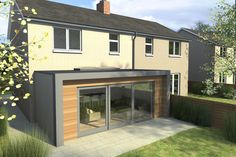 contemporary extensions to 1930s properties front elevation - Google Search