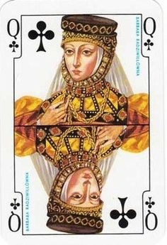 by Maria Orowska-Gabry - Playing Cards with Polish Queens. Printable Playing Cards, Joker Card, Vintage Playing Cards, Unique Cards, Football Cards, Tarot Decks, Deck Of Cards, Betty Boop, Tarot Cards