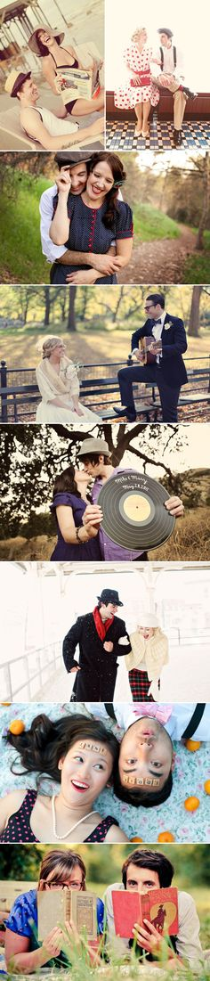 vintage photoshoot ideas #wedding #engagement