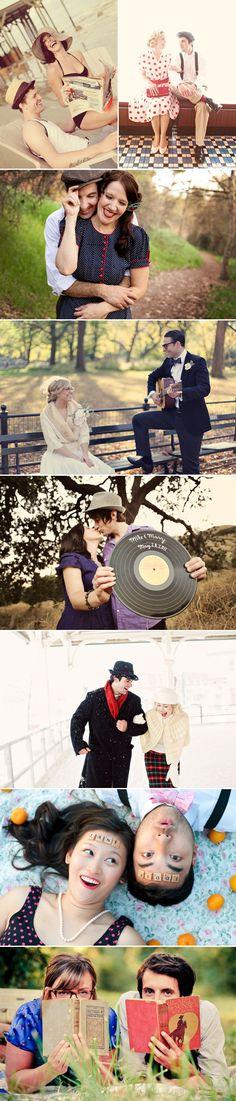 vintage photoshoot ideas #wedding #engagement