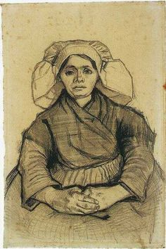 Vincent van Gogh: Seated Woman  Nuenen: February-May, 1885 (Amsterdam, Van Gogh Museum)