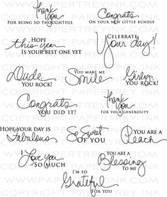 Signature Greetings Stamp Set: Papertreyink