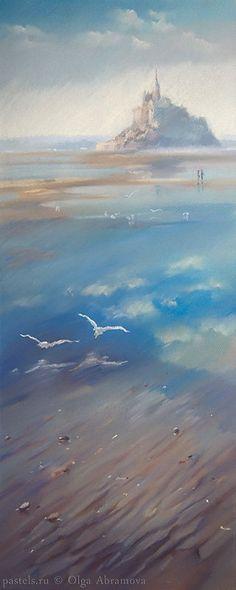 Бретань. Мон Сан Мишель Bretagne. Mont Saint Michel 45×90. 2009