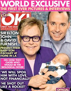 Elton John 'overwhelmed with excitement' over birth of second son