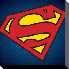 Superman - DC Comics - Symbol - Canvas Print 40 x 40 cm