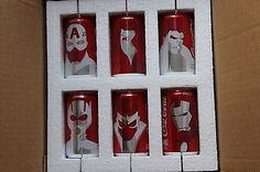 Coca-Cola-Mini-Marvel-Comic-Collectible-Six-Pack-Cans-Coke-Soda-Filled