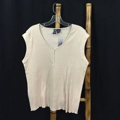 Buy 4 NWT Tops 4 ONLY $40 - Comment B4 U Buy! NWT Derek Heart Sleeveless Shirt.  Plus size 2X. 100% cotton. Made in Vietnam. Machine wash. Tumble dry. New with tags retail price $15. Derek Heart Tops Tees - Short Sleeve
