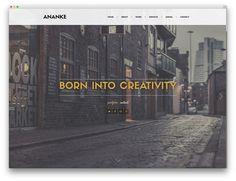 ananke one page portfolio theme