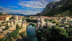 Mostar Walking Tour: Orient in the West Great Places, Places To See, Beautiful Places, Mostar Bosnia, Explore Dream Discover, Sunset Landscape, Landscape Wallpaper, Bosnia And Herzegovina, Walking Tour